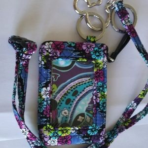 Disney ID holder with removable lanyard